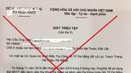 Giấy triệu tập, lệnh bắt giả 'giăng bẫy' nhiều người ở Nghệ An