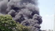 Cháy kho chứa phế liệu ở Nghệ An
