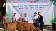 Báo Nghệ An tặng bò sinh sản cho người dân xã Xiêng My