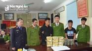 Bắt 2 đối tượng người Lào vận chuyển 20 bánh heroin, 12kg ma túy vào Nghệ An