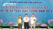 Tỉnh Nghệ An trao Giải báo chí viết về ATGT năm 2019