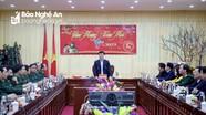 Chủ tịch UBND tỉnh Nguyễn Đức Trung chúc Tết các tổ chốt phòng, chống dịch Covid-19