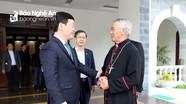 Chủ tịch UBND tỉnh Nguyễn Đức Trung thăm, chúc Tết các cơ sở tôn giáo