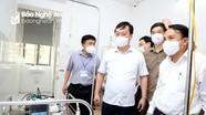 Chủ tịch UBND tỉnh Nguyễn Đức Trung thăm, kiểm tra tại các đơn vị tuyến đầu phòng, chống dịch