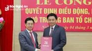 Nghệ An có tân Phó Trưởng ban Tổ chức Tỉnh ủy