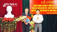 Công bố và trao Quyết định chuẩn y Bí thư Huyện ủy Anh Sơn  