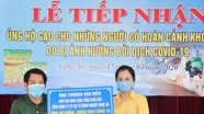 Ủy ban MTTQ tỉnh tiếp nhận ủng hộ gạo cho người dân có hoàn cảnh khó khăn