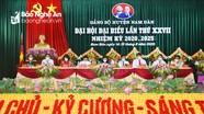 Khai mạc phiên trù bị Đại hội đại biểu Đảng bộ huyệ̣n Nam Đàn nhiệm kỳ 2020 - 2025
