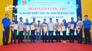 10 công trình đạt giải 'Dự án khởi nghiệp sáng tạo trong thanh niên nông thôn lần thứ IV' ở Nghệ An