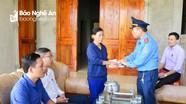 Ban An toàn giao thông tỉnh thăm hỏi gia đình nạn nhân tai nạn giao thông tại thị xã Thái Hòa