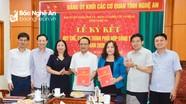 Ký kết quy chế phối hợp giữa Ban Tuyên giáo Tỉnh ủy và Đảng ủy Khối Các cơ quan tỉnh