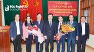 Trao Quyết định bổ nhiệm Giám đốc, Phó Giám đốc Sở Kế hoạch và Đầu tư tỉnh Nghệ An