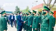 Trưởng Ban Tổ chức Tỉnh ủy thăm, chúc Tết nhân dân, cán bộ, chiến sỹ tại huyện Diễn Châu