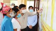 Lãnh đạo tỉnh kiểm tra công tác bầu cử và phòng, chống dịch Covid-19 tại huyện Quế Phong
