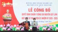Công bố và trao Quyết định chuẩn y Bí thư Huyện ủy Yên Thành