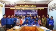 Tỉnh đoàn Nghệ An thăm và làm việc tại Xiêng Khoảng (Lào)