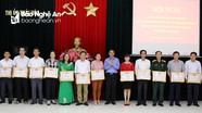 Thái Hòa biểu dương 12 tập thể, 17 cá nhân điển hình trong thực hiện Chỉ thị 05