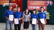 Nghi Lộc: Kết nạp Đảng 14 học sinh THPT