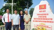 Đảng ủy Khối CCQ tỉnh: Khánh thành công trình Bia dẫn tích, đường giao thông