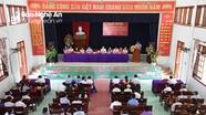Ứng cử viên Đại biểu Quốc hội, HĐND tỉnh tiếp xúc cử tri 7 xã ở Yên Thành