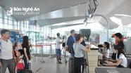 Mỗi ngày, sân bay Vinh có 34 chuyến cất, hạ cánh trong dịp lễ