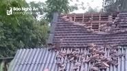 Lốc xoáy làm tốc mái nhà, cây xanh gãy đổ ở Nghệ An