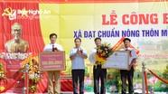 Xã Quỳnh Trang (TX Hoàng Mai) đón bằng công nhận chuẩn nông thôn mới