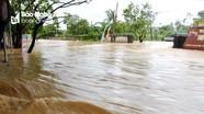 Nghệ An: Mưa lớn gây vỡ kênh thủy lợi và hàng trăm hộ dân bị ngập
