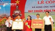 Xã Hưng Lĩnh (Hưng Nguyên) đón bằng công nhận chuẩn nông thôn mới