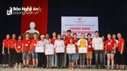 Chương trình học kỳ nhân ái trao quà cho người khuyết tật và học trò nghèo  ở Yên Thành