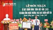 Xã Quỳnh Hồng (Quỳnh Lưu) đón nhận Bằng đạt chuẩn Nông thôn mới