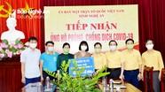 Ủy ban MTTQ tỉnh Nghệ An tiếp nhận hơn 410 triệu đồng ủng hộ phòng, chống dịch Covid-19.