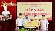 Ủy ban MTTQ tỉnh Nghệ An tiếp nhận thêm 1,1 tỷ đồng ủng hộ chống Covid-19