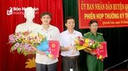 Trao quyết định bổ nhiệm lại hai cán bộ ở Quỳnh Lưu