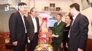 Bí thư Thành ủy TP. Hồ Chí Minh Nguyễn Thiện Nhân thăm, chúc Tết tại Nghệ An