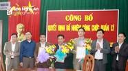 Huyện Anh Sơn công bố quyết định bổ nhiệm cán bộ quản lý