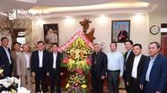 Lãnh đạo tỉnh chúc mừng tân Giám mục Giáo phận Vinh
