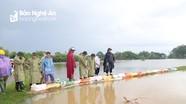Nước dâng cao, đe dọa ngập lụt 2.300 hộ dân ở Hưng Nguyên