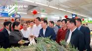 Phó Thủ tướng Vương Đình Huệ khảo sát thị trường Tết tại Nghệ An