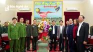 Đảng ủy Công an, Quân sự tỉnh chúc mừng Tỉnh ủy nhân kỷ niệm 90 năm Ngày thành lập Đảng