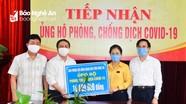 Mặt trận Tổ quốc tỉnh Nghệ An tiếp tục nhận ủng hộ phòng, chống dịch Covid -19 24/7