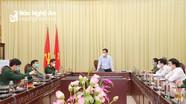 Chủ tịch UBND tỉnh làm việc với một số cơ quan, đơn vị về công tác phòng, chống dịch Covid-19