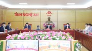 Nghệ An kiến nghị 4 nhóm nội dung tại Hội nghị trực tuyến với Chính phủ
