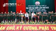 Bế mạc Đại hội đại biểu Đảng bộ Quân sự tỉnh Nghệ An lần thứ XIII, nhiệm kỳ 2020 - 2025