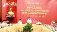 Lãnh đạo Đảng, Nhà nước quê Nghệ An góp ý vào văn kiện Đại hội Đảng bộ tỉnh
