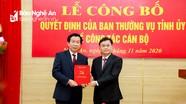 Đồng chí Lê Đức Cường giữ chức Trưởng ban Tổ chức Tỉnh ủy Nghệ An