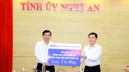 Các ngân hàng, tập đoàn, tổng công ty ủng hộ đồng bào bị ảnh hưởng do lũ lụt ở Nghệ An