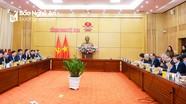 Thường trực Tỉnh ủy làm việc với Tổ tư vấn kinh tế - xã hội của tỉnh