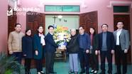 Thường trực HĐND tỉnh thăm, chúc mừng các chức sắc, giáo xứ nhân dịp Giáng sinh 2020