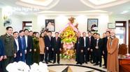 Lãnh đạo tỉnh Nghệ An thăm, chúc mừng Tòa Giám mục Giáo phận Vinh nhân Lễ Giáng sinh 2020